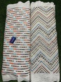 Multi color cotton embroidery Fabric