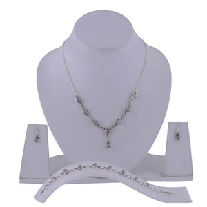 Rainbow Natural Round Multistone 925 Sterling Solid Silver Handmade Jewellery Set