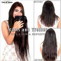 Natural Hair Clip On Hair Extension