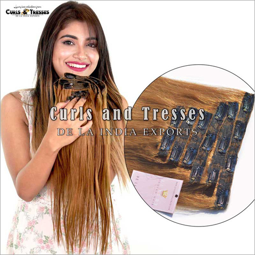 Brown Clip On Hair Extension