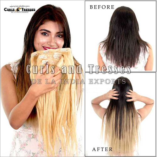Blonde Clip On Hair Extension