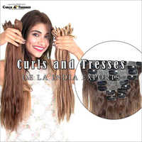 Ladies Seamless Clip On Hair Extension