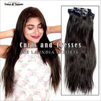 Natural Hair Seamless Clip On Extensions