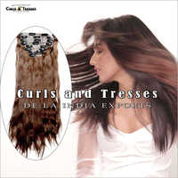 Brown Seamless Clip On Hair Extension