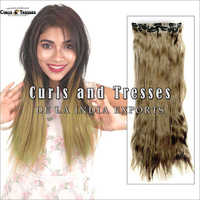 Blonde Seamless Clip On Hair Extension