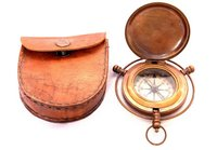 Push Button Compass With Case