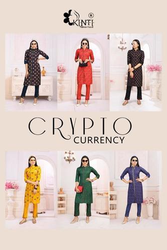 Kinti Crypto Currency 6 Casual Wear Printed Kurtis
