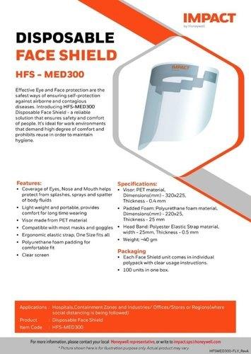Honeywell Face Shield Med300