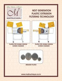 WATER RING PELLETIZER , CONTINUOUS SCREEN CHANGER MANUAL SCREEN CHANGER CANDLE TYPE SCREEN CHANGER