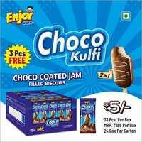 2 In 1 Choco Kulfi Choco Coated Jam Filled Biscuit
