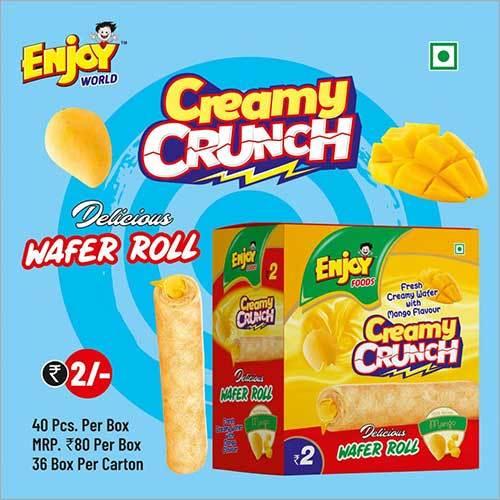Mango Flavour Creamy Crunch Wafer Roll