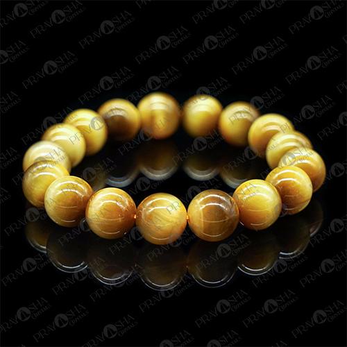 Prayosha Crystals  Yellow Tiger Eye Gemstone Bracelet