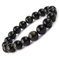 Prayosha Crystals  Black Obsidian Bracelet