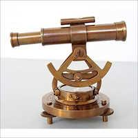 Antique Brass Nautical Alidade Telescope Compass