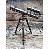 Nautical brass telescope with tripod Wooden Stand Bird Watching Hiking Camping Mounting Home Decor