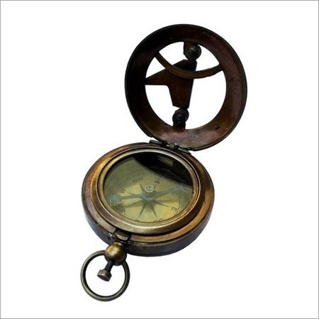 Brass Antique Sun Dial Compass