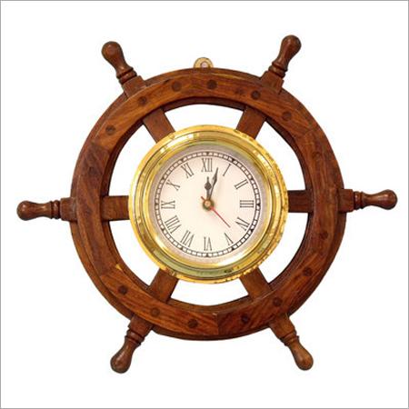 Nautical Ship Wheel Style Wall Clock Home Decor