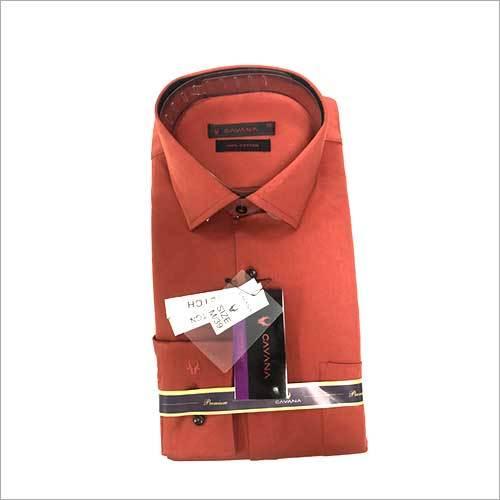 Mens Pure Linen Plain Shirt