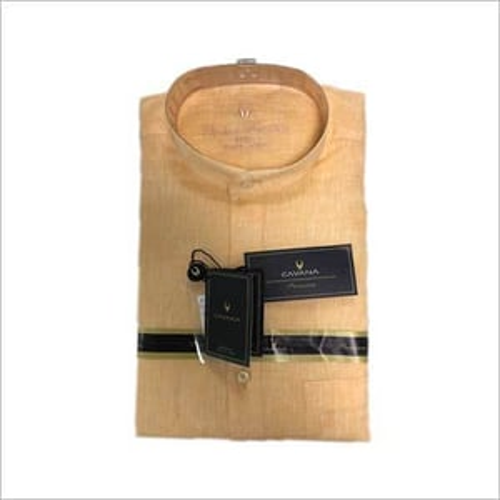 Mens Formal Linen Shirt with Band Collar