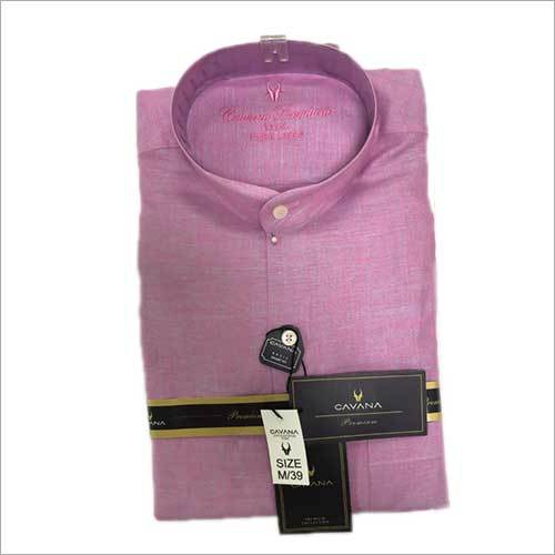 Mens Formal Regular Fit Plain Shirt