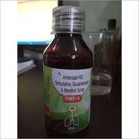Ambroxol HCL Terbutaline Guaifenesin & Menthol Syrup