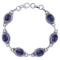 Malachite Natural Gemstone 925 Sterling Solid Silver Oval Cabochon Handmade Bracelet