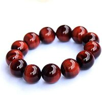 Prayosha Crystals  Red Tiger Bracelet