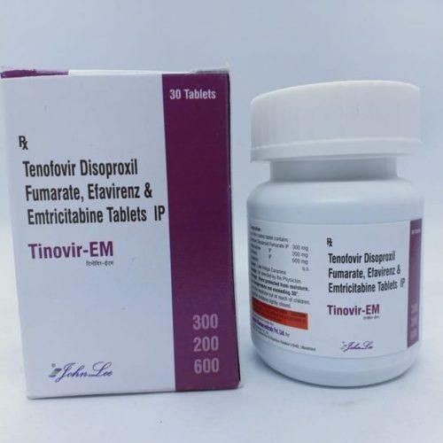 Tenofovir Disproxil Fumarate IP 300mg, Efavirenz IP 200mg, Emtricitabine IP 600mg Tablets