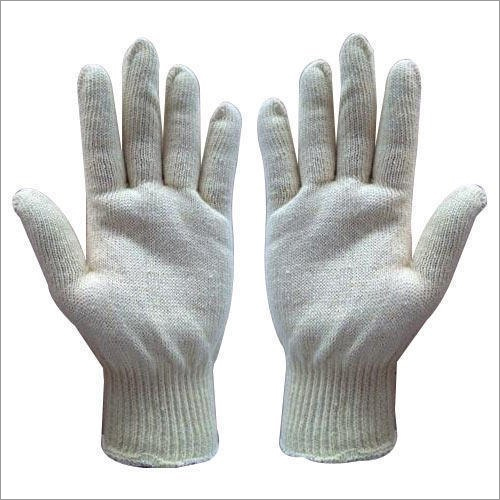 Cotton Knitted Safety Hand Gloves