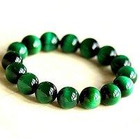 Prayosha Crystals  Green Tiger Eye Bracelet