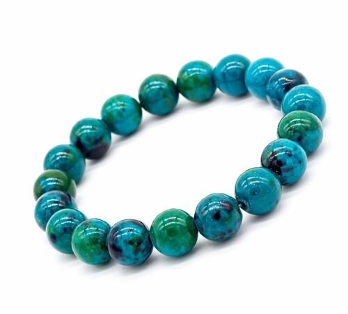 Prayosha Crystals Chrysocolla Bracelet
