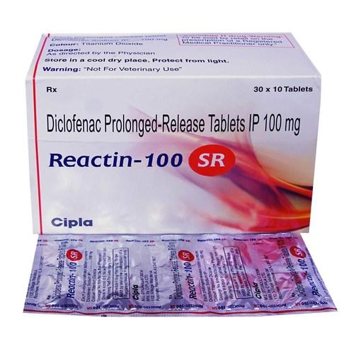 REACTIN 100 MG TABLET (DICLOFENAC)