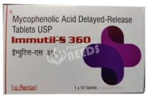 Mycophenelonic Acid Delayed Release  360 Mg Tablets