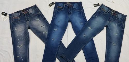 Mens Branded Torn Jeans
