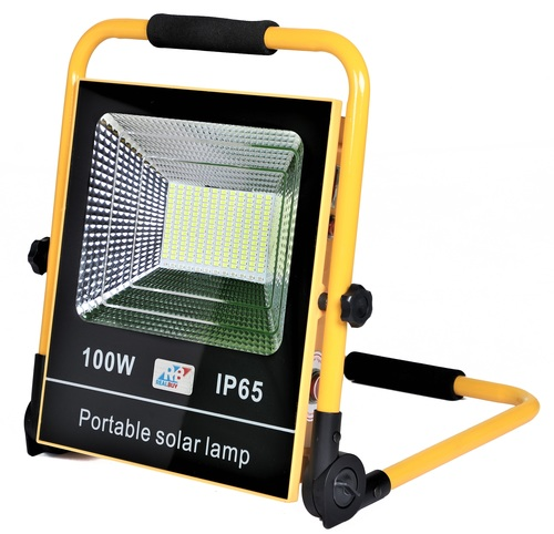 REALBUY Rechargeable Solar LED Flood Light 100W With 15000 mAh LiFePO4 Battery (IP 65)