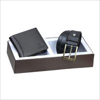 Leather Belt And Wallet Combo Set