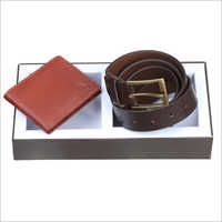 Leather Combo Wallet With Belt