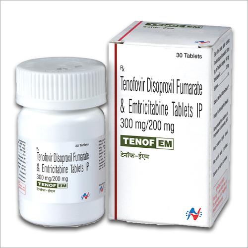 300mg Tenofovir Disoproxil Fumarate and Emtricitabine Tablets IP