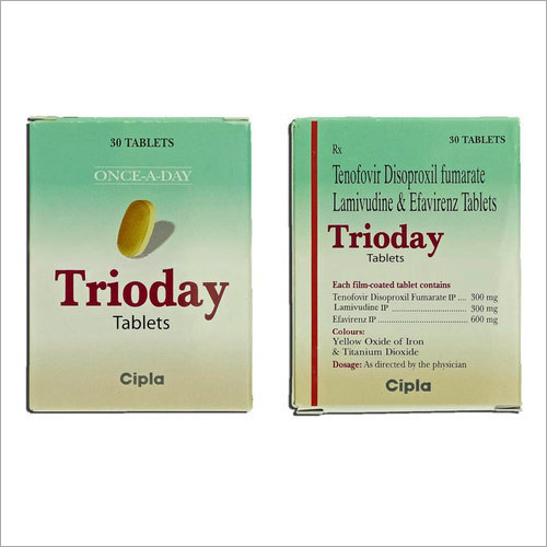 Tenofovir Disoproxil Fumarete Lamivudine and Efavirenz Tablets