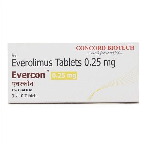 0.25 mg Everolimus Tablets