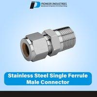 Stainless Steel Single Ferrule Male Connector