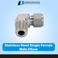 Stainless Steel Single Ferrule Male Elbow