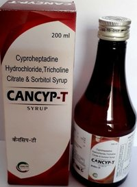 Cyproheptadine Hcl + Tricholine citrate + Sorbitol Syrup