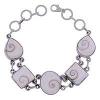 Shiva Eye Natural Gemstone 925 Sterling Solid Silver Irregular Cabochon Handmade Bracelet