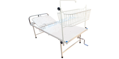 SEMI FOWLER BED WITH BABY COT (SIS 2003B)