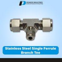 Stainless Steel Single Ferrule Branch Tee PFBT