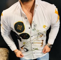 21 Inside Imported Fabric Lycra Shirts For Men's