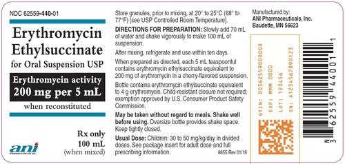 Erythromycin EthylSuccinate For Oral Suspension