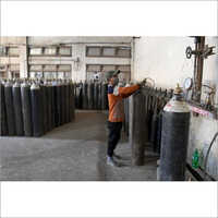 Empty Oxygen Gas Cylinder
