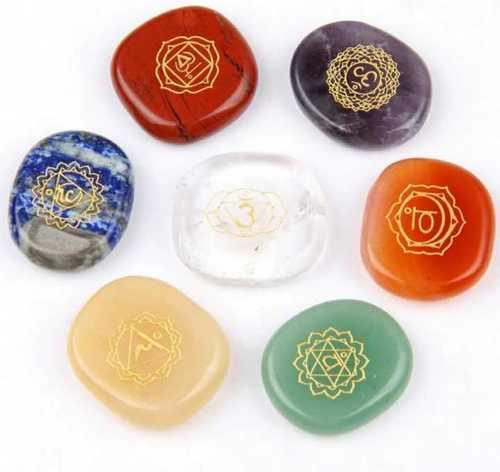 Saven chakra healing stone